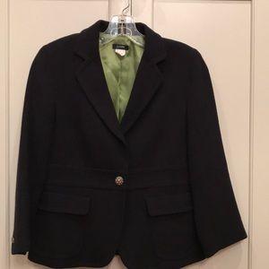 J.Crew black cropped blazer w/ rhinestone buttons